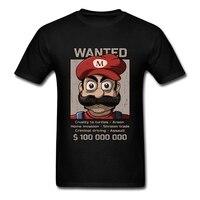 Fashion Wanted Plumber Super Mario Tshirt Mens Short Sleeve O Neck Men Tee Shirt Tops Tee