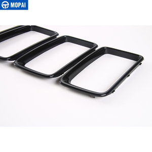 Image 4 - MOPAI ABS Car Interior Front Insert Racing Grilles Decoration Ring Cover Sticker for Jeep Grand Cherokee 2014 Up Car Styling