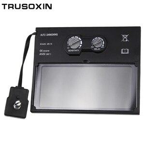 Solar battery outside control auto darkening/shading welding helmet/welder goggles/weld mask's filter/lens  free shipping
