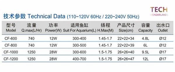 Aquarium Water Purifier CF-600 CF-800 Fish Tank Pressurized External Canister Filter 4