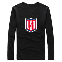 2016 T-Shirt Long Sleeve Team usa logo for the 2016 World Cup of Hockeyes Patriots Tee 100% Cotton Tshirt  T SHIRT Mens Fashion