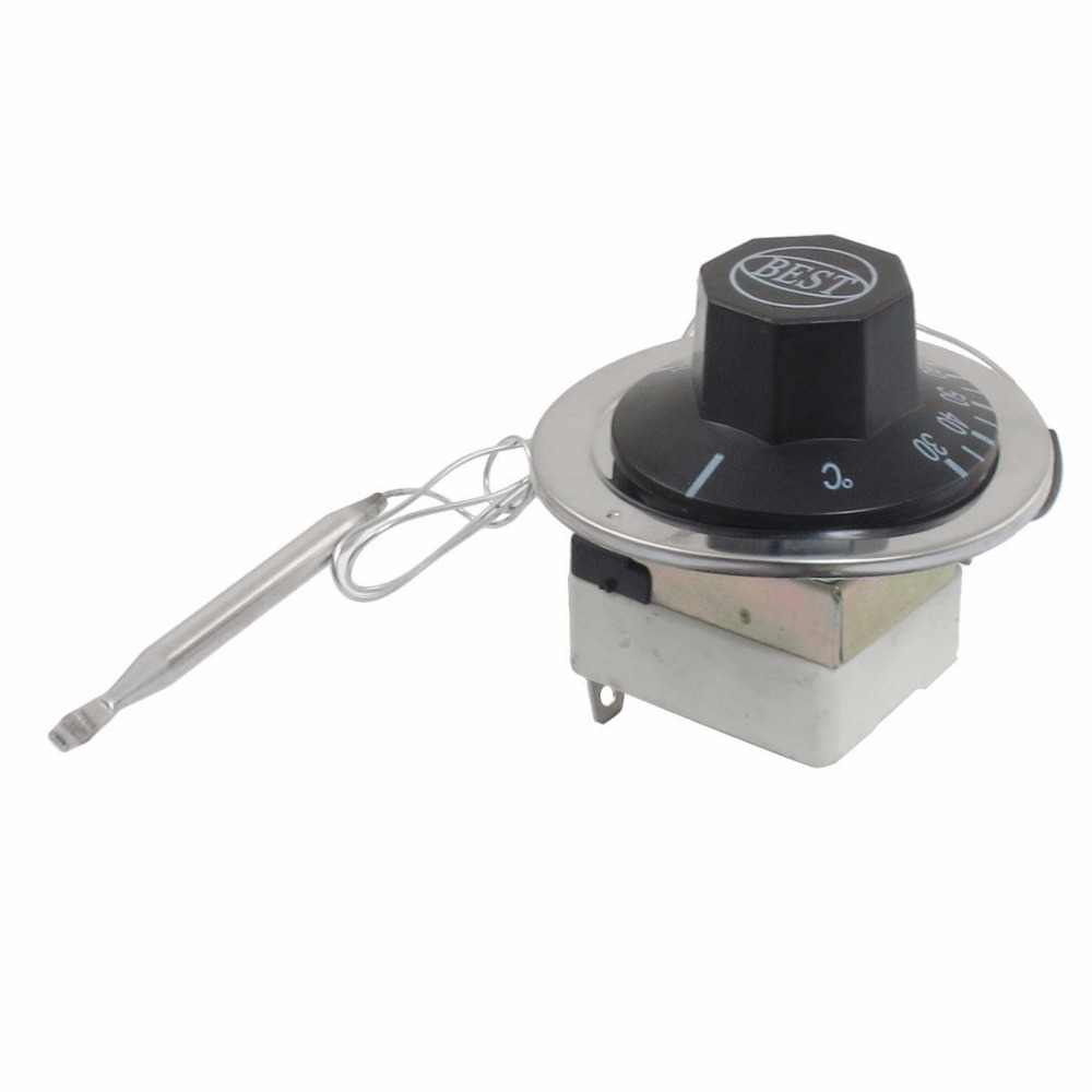 AC 16A 250V 30-110 50-300 50-200 Celsius 1NO 1NC Capillary Temperature Capillary Thermostat 250v 20a 3 pin terminals temperature control switch capillary thermostat part
