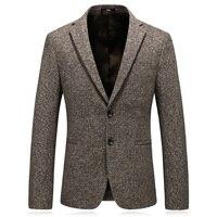 2018 winter blazer masculino slim fit good quality wool mens suit jacket blazers plus size 4xl khaki jacket suit men