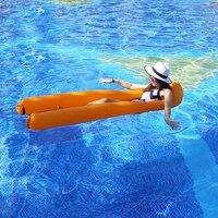 New 2019 Pool Floats Water Hammock Wind Inflated Water Air Lounge Spring Pool Floating Mesh Floaties Water Air Lay Bag