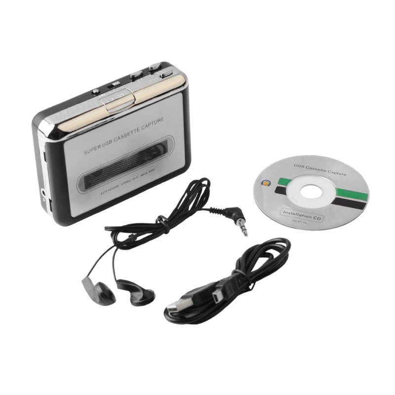 USB Cassette Tape Converter Cassette to MP3 Audio capture Music Player Tape to PC Portable Cassette