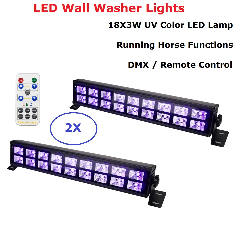 Free Shipping 18 LEDS LED Wall Washer Lights LED UV Stage Light Bar Black Party Club Disco Light For Indoor Stage Effect Lights