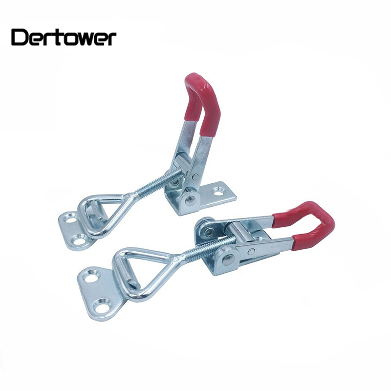 1pc Adjustable Toggle Latch Catch Hasp Spring Loaded Cabinet Boxes Lock Lever Handle Clamp Toggle Latch Furniture Hardware
