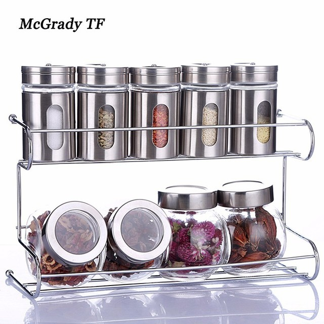 Chinese Flavor Kitchen Use Seasoning Box Condiment Food Container Organizer Jar For