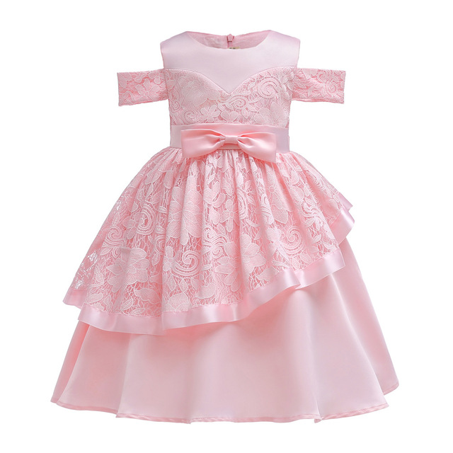 38399b243 Brand Baby Girl Bow Lace Dress Princess Evening Dresses Girls ...