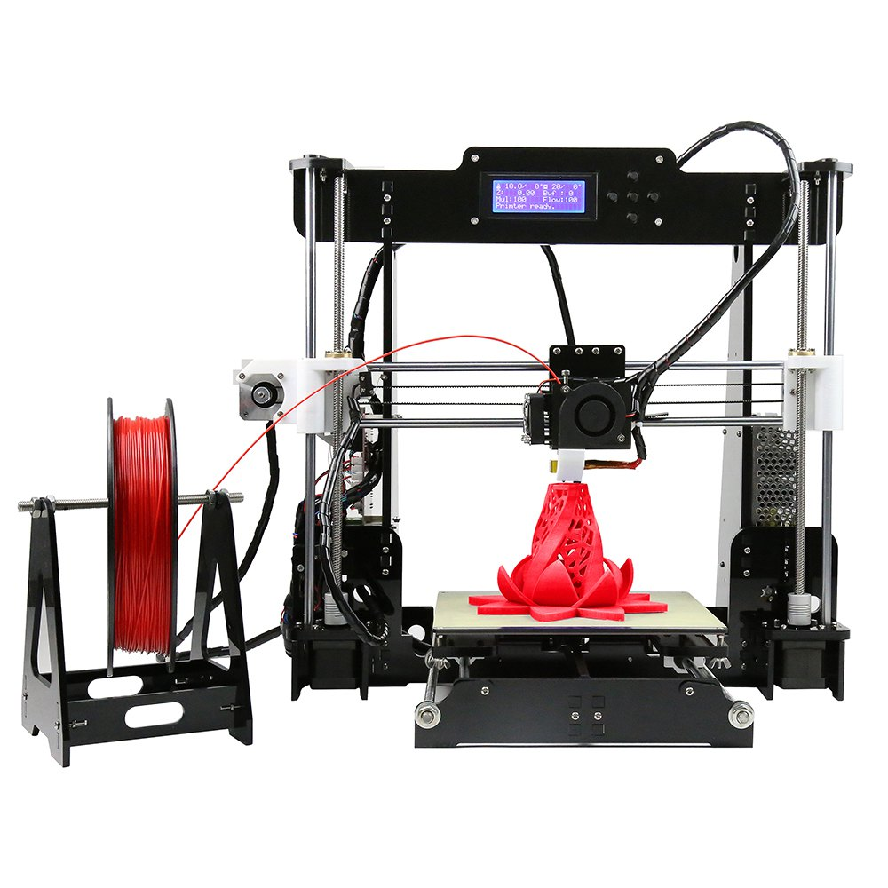 A8 1Roll Filament Free Full Acrylic LCD Screen 6 Material Acquired Reprap Prusa i3 Desktop 3D Printer High Impressora DIY Kit