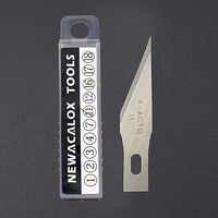 Newacarax 20 piezas hoja de acero inoxidable para films teléfono móvil herramientas cortador hobby artesanal cuchillo DIY bisturí tallado en madera Reparación de PCB