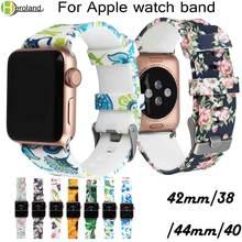 Новый модный спортивный ремешок для apple watch 38 мм 42 40