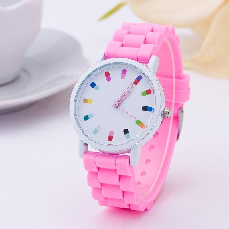 2016 New Famous brand women Dress watches Casual Geneva quartz watch women Silicone Jelly Sport wristwatch relogio feminino in Women 39 s Watches from Watches