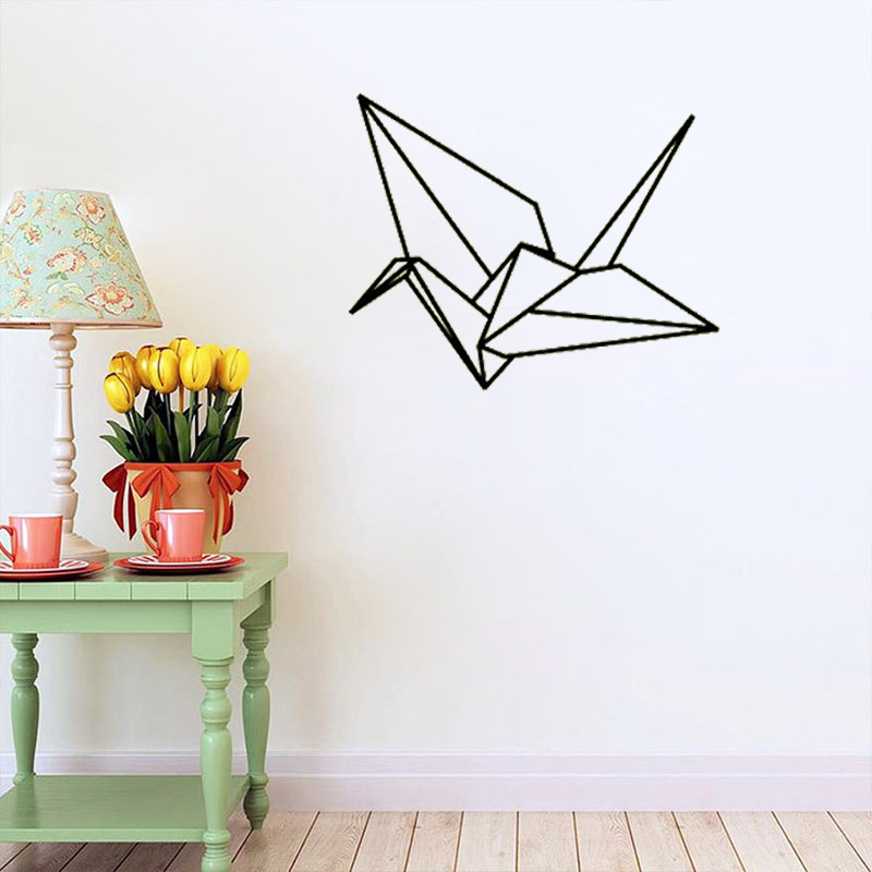 Latest creative TV background wall stickers paper cranes Foreign ...
