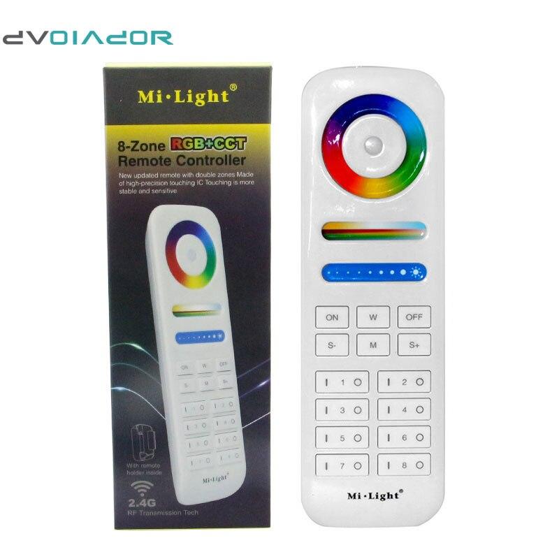 Dvolador 2.4 г rf Беспроводной <font><b>LED</b></font> контроллер 8-зона RGB + CCT Smart Touch Пульт дистанционного управления для 5050 <font><b>3825</b></font> <font><b>LED</b></font> контроллеры газа