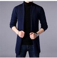 Мужская одежда, свитер, пальто, весна 2019, свитер, пальто, длинный рукав, кардиган, тонкий свитер, длинная секция, большой размер, Мужское пальт...