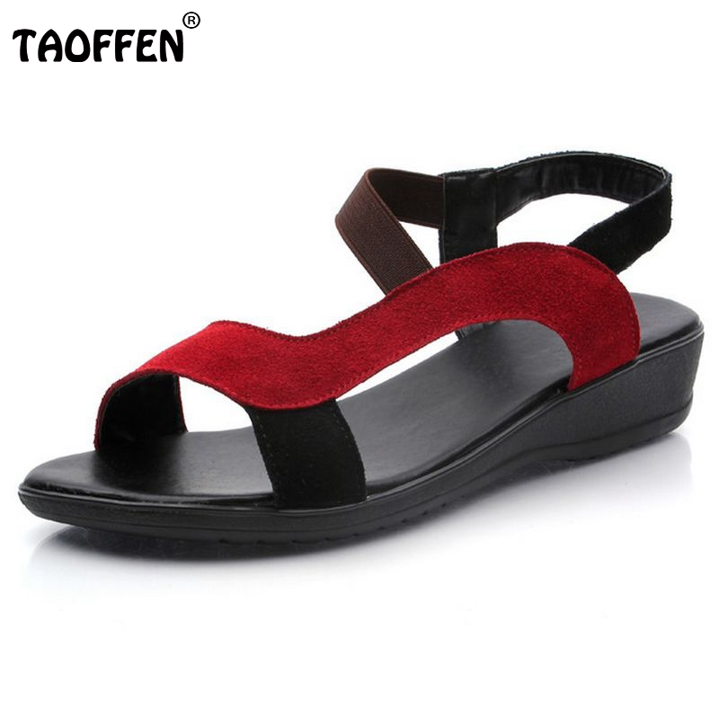 TAOFFEN free shipping quality flat buckle bohemia sandals women sexy fashion lady shoes P11820 hot sale EUR size 34-40 taoffen free shipping flat casual sexy shoes women sexy footwear fashion lady p11882 hot sale eur size 31 43