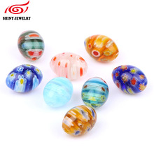 shinygem 20pcslot mix millefiori lampwork glass beads