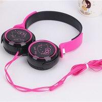 Hifi Cartoon Hello Kitty 3 5mm Music Universal Headset Headphone For IPhone Cellphone MP3 Cute Earphone