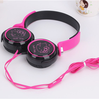 Hifi Cartoon Hello Kitty 3 5mm Music Universal Headset Headphone For IPhone Cellphone MP3 Cute Earphone