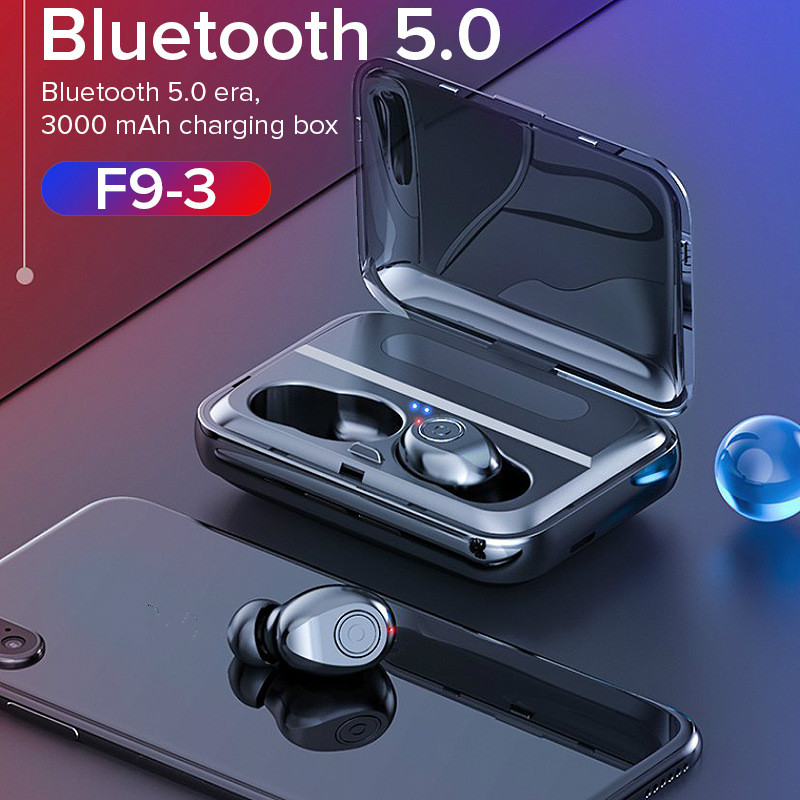 <font><b>TWS</b></font> Bluetooth Earphone <font><b>5D</b></font> Stereo Wireless Earbuds Mini <font><b>TWS</b></font> Waterproof Headfrees with 1300mAh Power Bank Earphones Pk <font><b>X8</b></font> T2c image