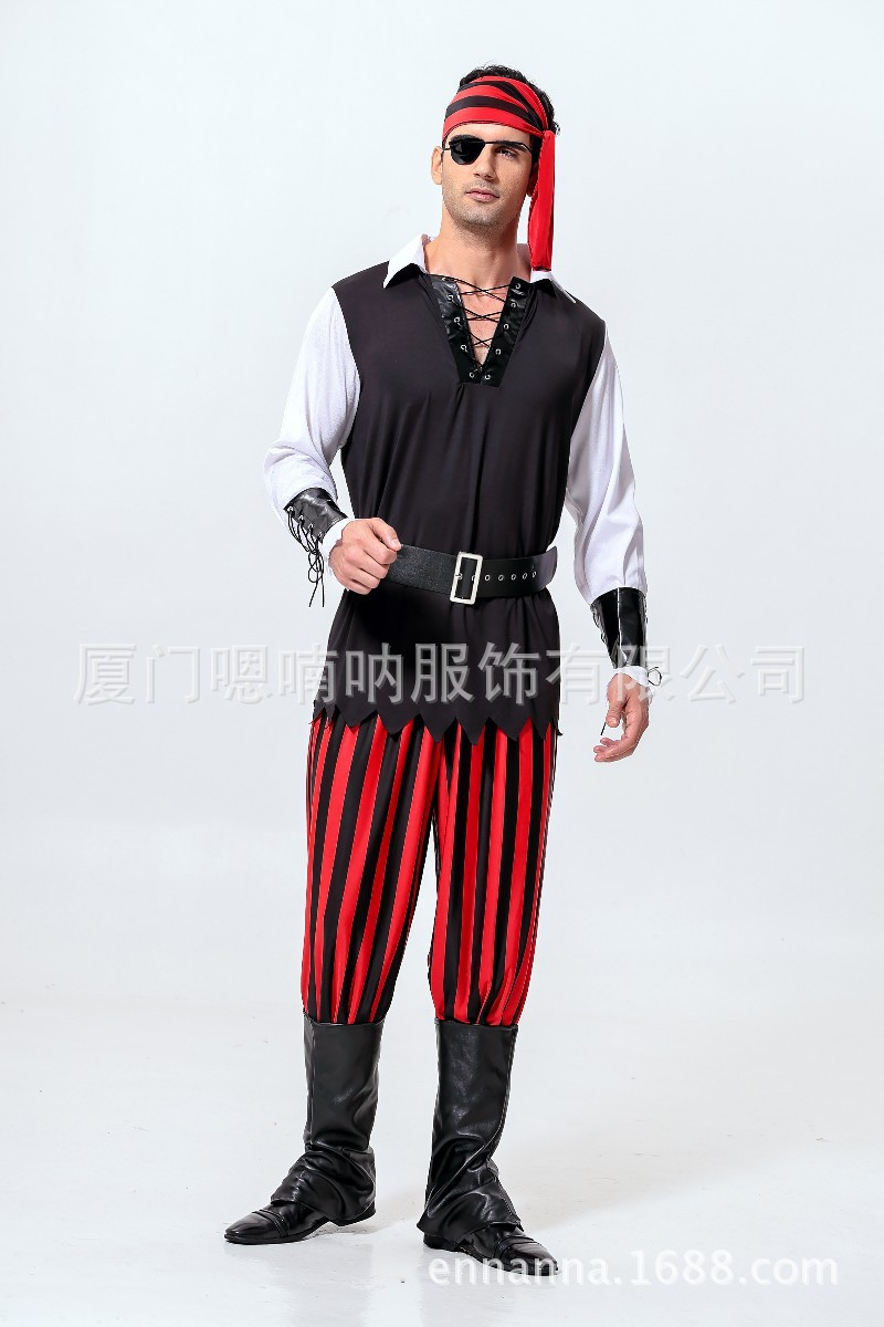 cosplay men's halloween party pirate costumes pirates of the