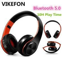 Mới Nâng Cấp V5.0 Không Dây Bluetooth Tai Nghe Stereo Tai Nghe Tai Nghe Chụp Tai Có Micro/Thẻ TF Cho Điện Thoại Di Động Âm Nhạc