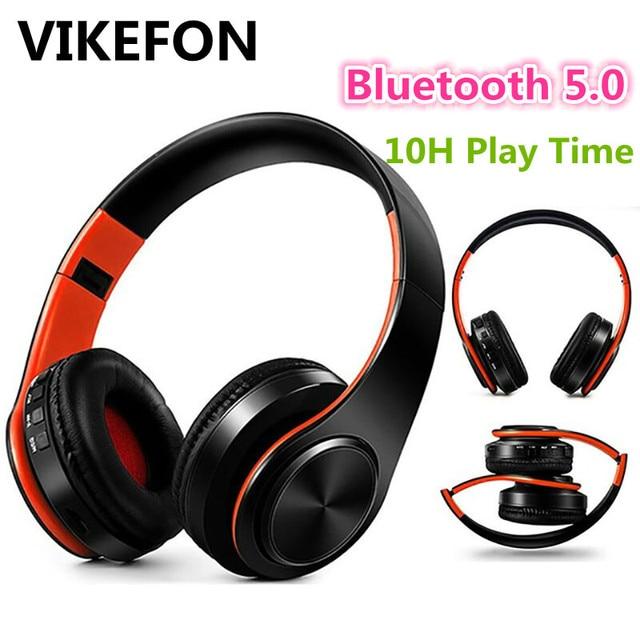 חדש משודרג V5.0 אלחוטי Bluetooth אוזניות אוזניות סטריאו אוזניות אוזניות עם מיקרופון/TF כרטיס נייד טלפון מוסיקה