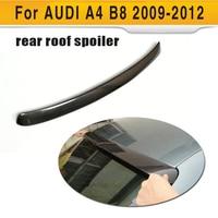 Carbon Fiber Rear Roof Spoiler Lip Wing Boots Lip for Audi A4 B8 S line S4 Standard Sedan 4 Door 2009 2012 A Style