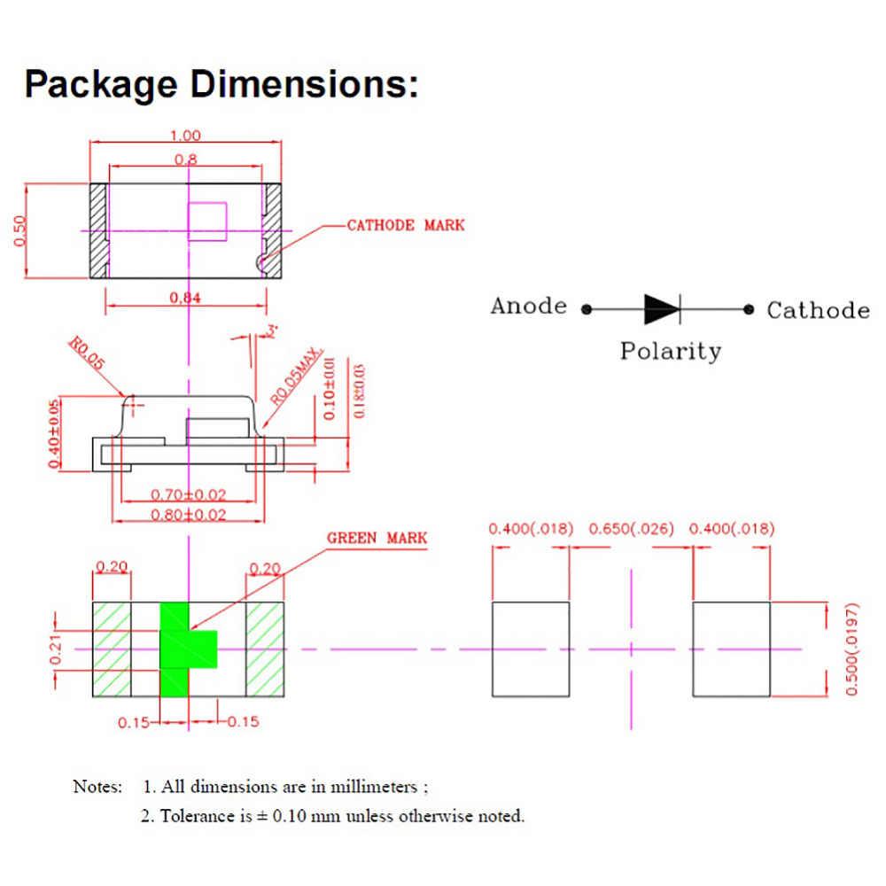 0402 SMD LED نموذج قطار HO N OO مقياس قبل ملحوم مايكرو ليتز السلكية LED يؤدي C0402 20 قطعة 7 ألوان مختلفة