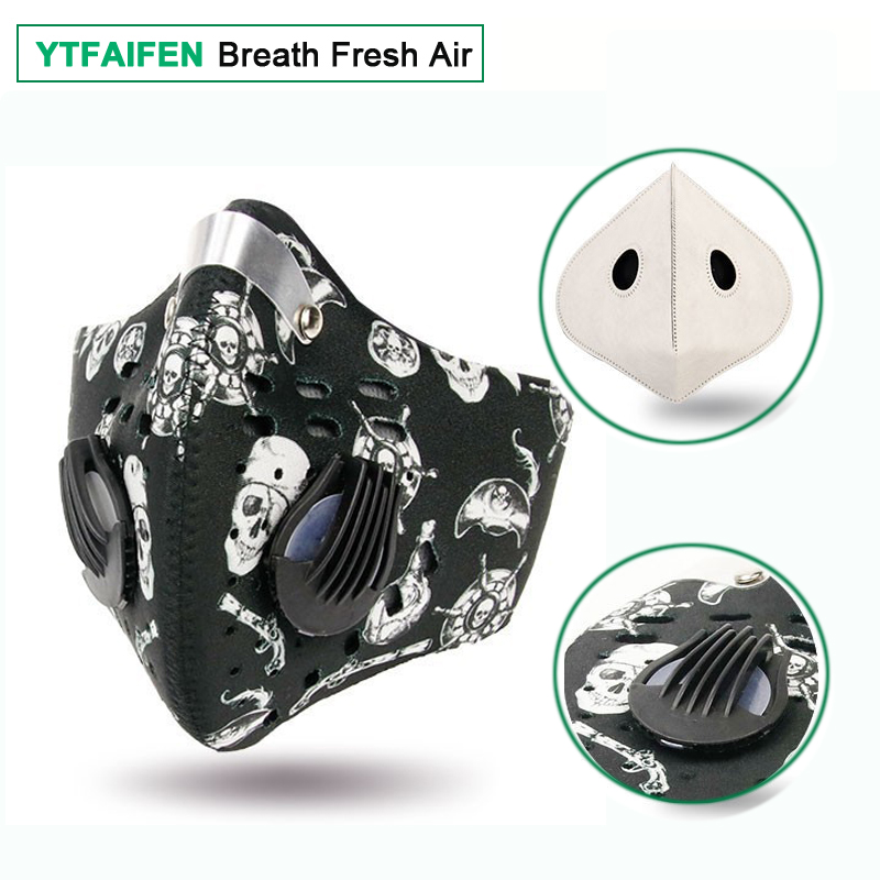 YTFAIFEN Activated Carbon N99 Cycling Mask for Dust Men Women Anti Pollution Smog Smoke Haze Dirt Gas Bisiklet Maskesi Sport in Cycling Face Mask from Sports Entertainment