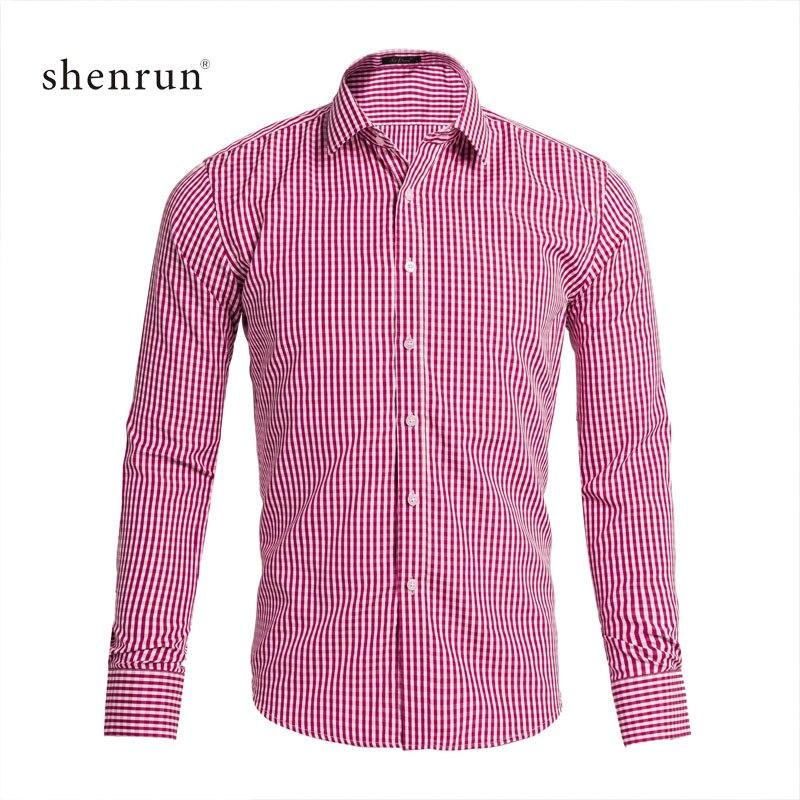 ShenRun 2019 Mens Business Casual Long Sleeve Shirts Men's Shirts Casual Slim Fits Classic Striped Social Dress Shirts Outwear
