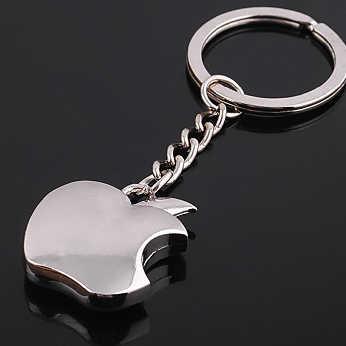 2016 New Arrival Novelty Souvenir Metal Apple Key Chains Creative Gifts Apple Keychain Key Ring Trinket Car Key Ring
