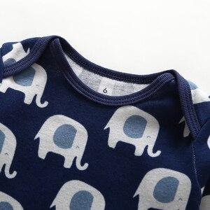 Image 5 - Uzun kollu karikatür hayvan baskı bodysuit erkek bebek kız giyisi 2020 yaz yenidoğan bodysuits unisex giyim pamuk 4 adet/takım
