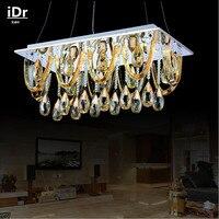 Contemporânea LED Retangular fabricantes atacado Vintagecrystal moderna Lustres lâmpada Salão lâmpada Do Quarto de Luxo