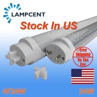 10/20/30/60 pack LED Tube Bulb 4ft 120cm 24W T8 G13 Bi pin Fluorescent Lamp 4foot 48 Bar Retrofit Lights 110V 277V Stock in US