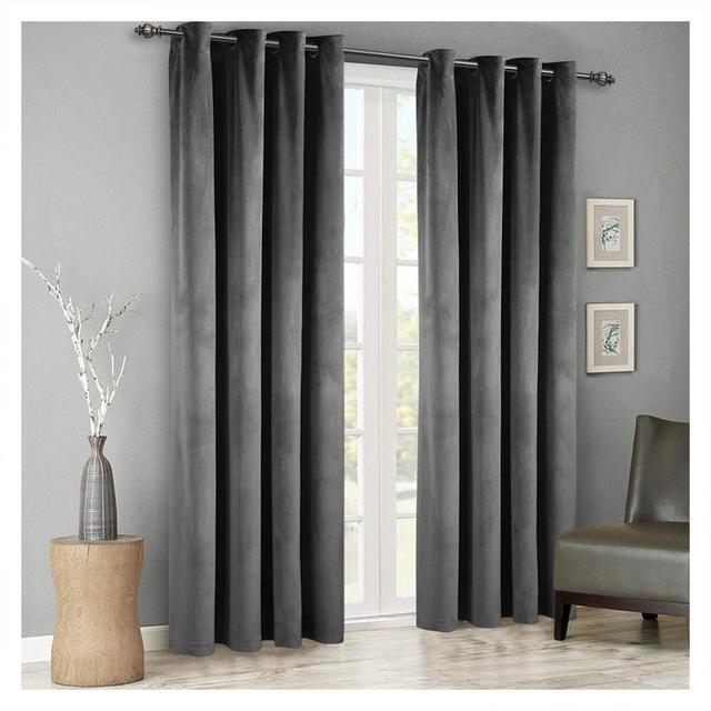 Modern Velvet Blackout Curtains for Living @ Bedroom