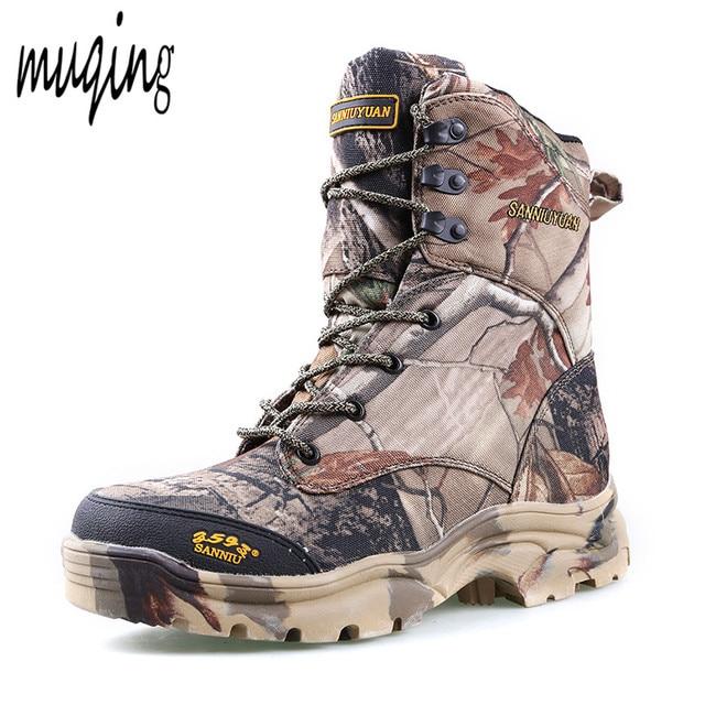 Les hommes du désert cheville Bottes de combat Jungle camouflage d'hiver Bottes de neige en plein air Chasse Casual Chaussures Rv3ygeAG
