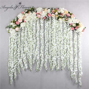2M luxury wedding Road cited flowers rose peony hydrangea mix DIY arched door Flower Row Window T station wedding decoration - DISCOUNT ITEM  57 OFF Home & Garden