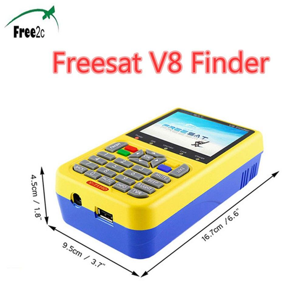 FREESAT V8 Finder Satellite signal Finder  HD DVB-S2 MPEG-2/MPEG-4 FTA Digital Satellite meter 3.5 inch LCD Display satlink 6906