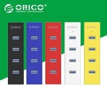 ORICO H4013-U3-V1 ABS 4 Ports USB3.0 HUB pour MAC Portable Parfaitement-Noir/Blanc/Jaune/Rouge