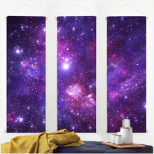 Galaxy Hanging Tapestry Art Canvas Poster Print Tapestry Space Tapestry Wall Hanging with Hanger Home Decor  Hippie Retro 3 Pics