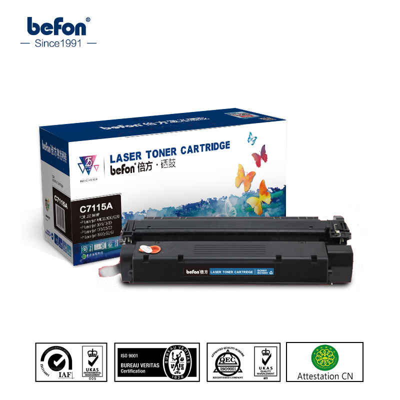 ФОТО befon C7115A Toner Cartridge 15A 7115A 7115 Compatible for HP LaserJet 1000 1005 1200 1220 3300 3330 3380MFP CANON LBP1210