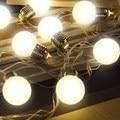 Al aire libre 20 LED Globo Conectable Party Bola de cuerda de iluminación led Luces De Navidad de hadas de la boda Del Adorno de jardín colgante garland