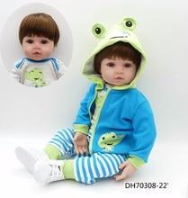 NPK 47 CM סיליקון Reborn סופר תינוק כמו בחיים פעוט תינוק Bonecas ילד בובת Bebes Reborn Brinquedos Reborn צעצועים לילדים מתנות