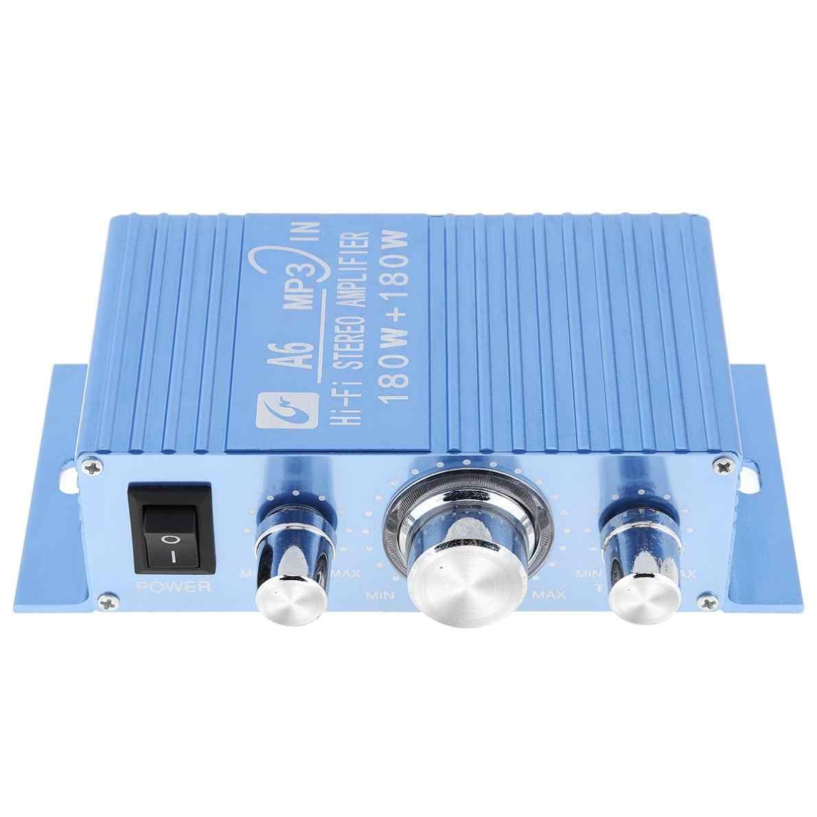 A6 DC12V 2,0 два канала MP3 в Hi-Fi стерео усилитель с 3.5AUX Интерфейс для Car/PC/колонки/CD/мотоциклетные/сабвуфер
