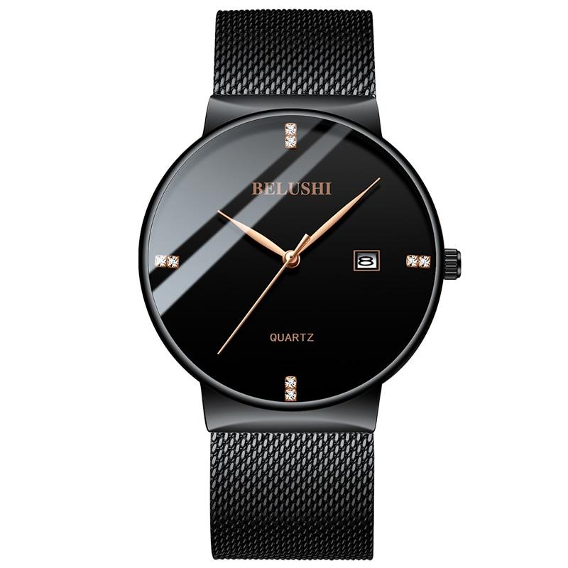 Man Business Watches 2019 Men's Luxury Brand Wrist Watch Thin Classic Clock Quartz Wristwatch Male Watches Men Relogio Masculino