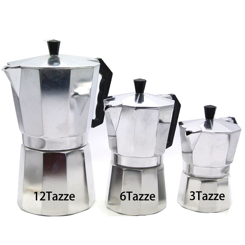 New 1 Cups 50ml Moka Espresso Coffee Maker Machine Glantop Aluminum 1cup Italian Stove Top Percolator Pot Tool In Makers From Home Liances On