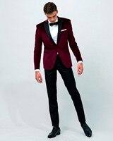 3 Style Velvet Tuxedo Jacket Designs Custom Made Men Suit jacket Elegant Smoking Dinner Jacket Slim Fit Wedding Suits For Men
