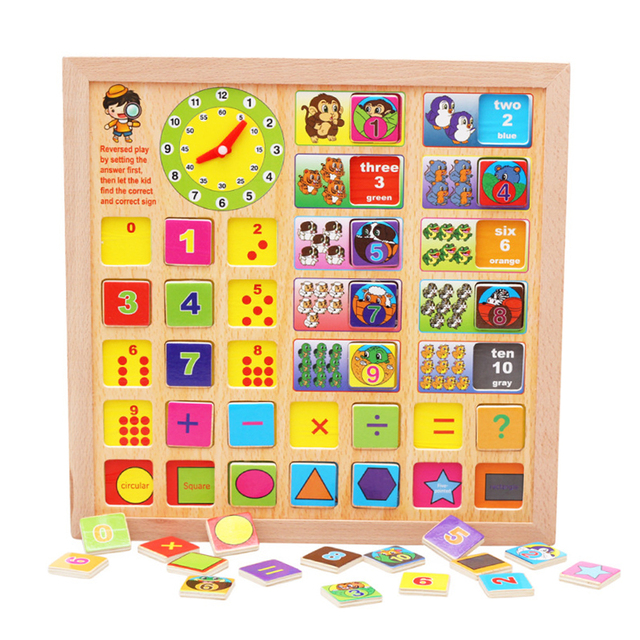 Baby Wooden Toys Number Counting Board Preschool Math Learning Education Toy Gift for Children Kids